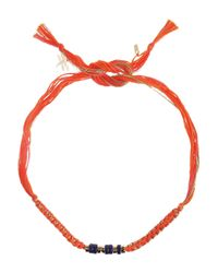 Aurelie Bidermann | Orange Takayama Cotton and Golddipped Bracelet | Lyst