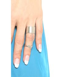 Elizabeth and James - Metallic Mies Knuckle Ring - Lyst