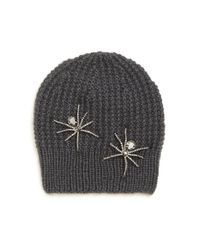 Jennifer Behr | Gray Double Spider Merino Wool & Silk Beanie | Lyst