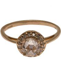 Anna Sheffield Metallic Yellow Gold Diamond Rosette Ring