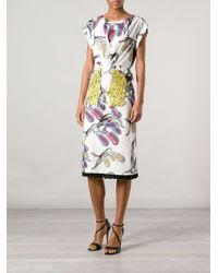 Sonia Rykiel - Yellow Abstract Print Dress - Lyst
