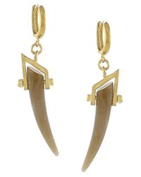 Vince Camuto | Metallic 'serengeti Breeze' Faux Horn Drop Earrings | Lyst