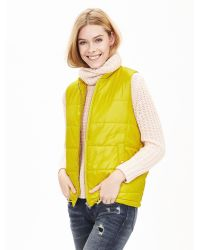Banana Republic - Green Drawstring Puffer Vest - Lyst
