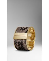 Burberry | Metallic Painted Python Cuff | Lyst