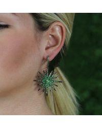Bochic - Green Sapphire Starburst Earrings - Lyst