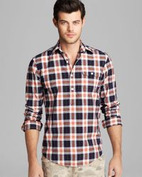 GANT Red Static Check Woven Button Down Shirt - Slim Fit for men