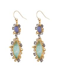Alexis Bittar | Multicolor Two-tone Double-drop Crystal Earrings | Lyst