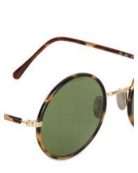 Lgr Brown Handmade Elliot Round Metal Sunglasses