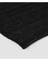 AllSaints | Black Spinn Scarf for Men | Lyst