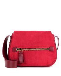 Tom Ford Red Jennifer Soft Suede Shoulder Bag
