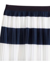 H&M Blue Pleated Skirt