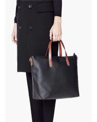 Mango - Black Pebbled Bag - Lyst