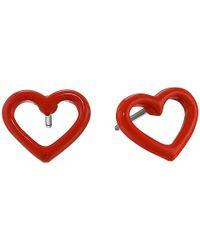 Marc By Marc Jacobs | Orange Open Heart Studs Earring | Lyst