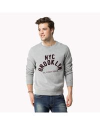 Tommy Hilfiger | Gray Cotton Blend Sweater for Men | Lyst