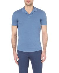 Orlebar Brown Blue Massey Cotton Polo Shirt for men