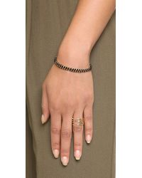 Shashi - Barbara Double Row Bracelet - Black - Lyst