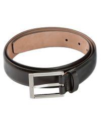 Lanvin Black Calf Leather Belt for men