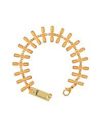 V By Valkeniers - Metallic Bar Bracelet - Lyst