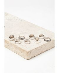 Forever 21 - Metallic Faux Stone Ring Set - Lyst