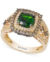 Le Vian | Green Chrome Diopside (1-1/4 Ct. T.w.) And Diamond (3/4 Ct. T.w.) Ring In 14k Gold | Lyst