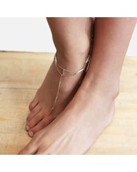 Tada & Toy | Metallic Sky Atlas Anklet Rose Gold | Lyst