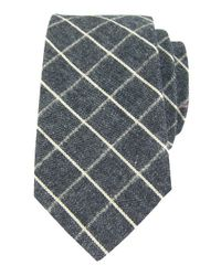 Dibi | Gray Muted Grey Plaid Tie for Men | Lyst