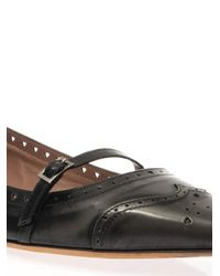 Tabitha Simmons - Gray Belfy Charcoal-Grey Leather Flats - Lyst