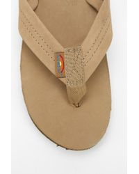 Rainbow Sandals - Brown Premier Thong Sandal - Lyst