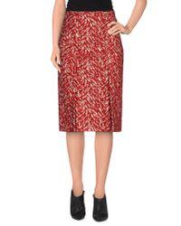Marni Red Knee Length Skirt