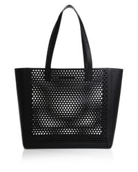 Loeffler Randall | Black Perforated Tote | Lyst