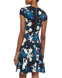 Erdem Blue Darlina Floral-print Flounce Dress