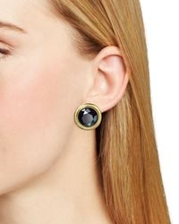 Kate Spade | Black Polish Up Stud Earrings | Lyst