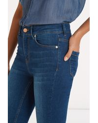 Oasis - Blue Lily High Waisted Ankle Grazer - Lyst