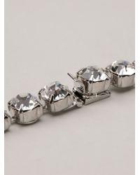 Tom Binns Metallic Long 3 Strand Crystal Necklace