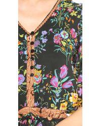 Spell Multicolor Queen Romper Black Floral