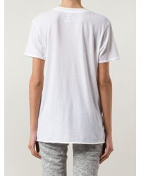 Bliss and Mischief - White V-Neck T-Shirt - Lyst