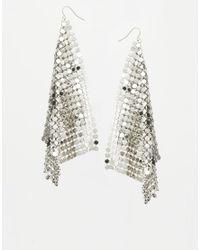 ASOS - Metallic Chainmail Earrings - Lyst