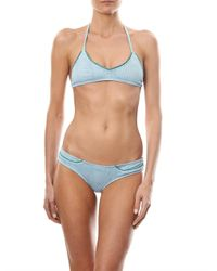 Made By Dawn Green Shell Picker Bikini Top