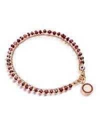 Astley Clarke - Red Garnet Cosmos Friendship Bracelet - Lyst
