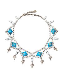 DANNIJO | Blue Dane Shark-tooth Crystal Collar Necklace | Lyst