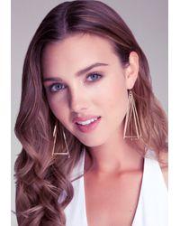Bebe - Metallic 3d Geometric Earring - Lyst