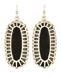 Kendra Scott Black Dayla Oblong Earrings With Box