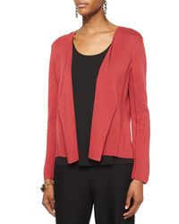 Eileen Fisher - Red Silk Organic Cotton Interlock Angled Jacket - Lyst