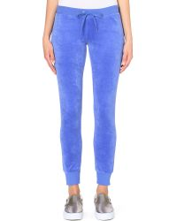Juicy Couture - Blue Modern Velour Jogging Bottoms - For Women - Lyst