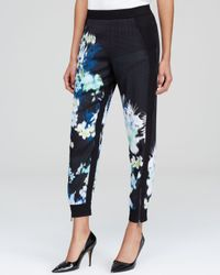 Elie Tahari Blue Kit Floral Print Pants