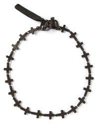 DSquared² - Black Crucifix Bracelet for Men - Lyst