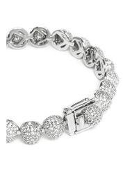 Eddie Borgo Metallic Crystal Pavé Milgrain Medium Dome Bracelet