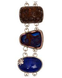 Stephen Dweck | Metallic Silver Blue Agate Bezel Set Bracelet | Lyst