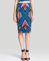 Mara Hoffman Blue Pencil Skirt - High Waist
