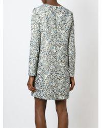 Chloé | Gray Floral Jacquard Dress | Lyst